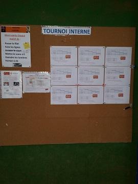 Tournoi interne 2ème tour